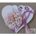 Fa szív alapon virágdekor