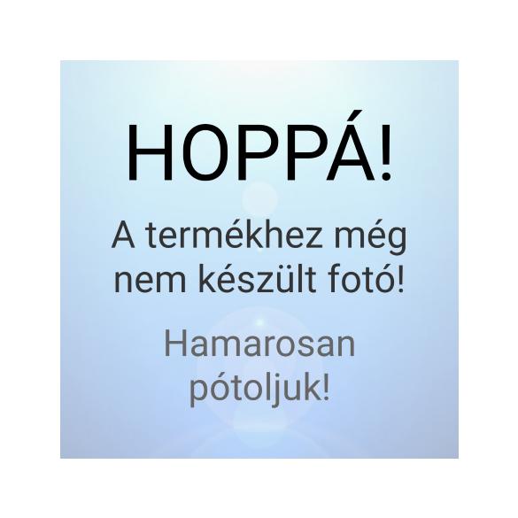 Műanyag kaspó, rózsaszín hortenziával, táblával