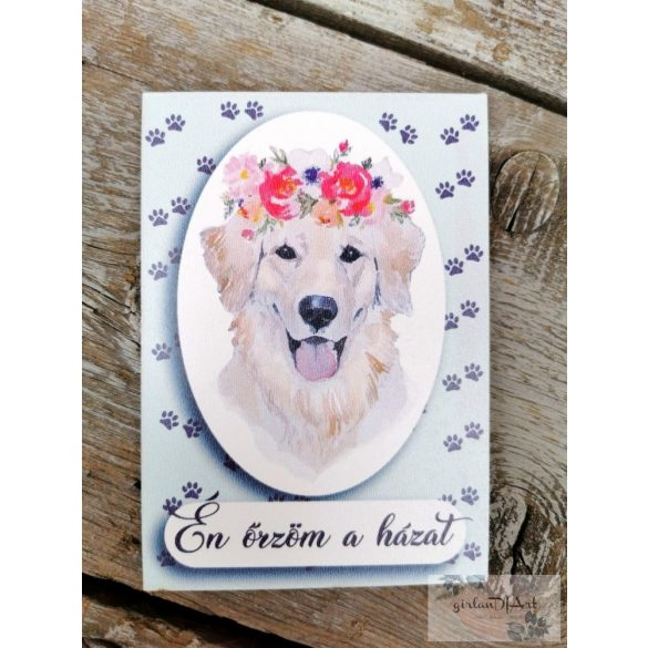 Golden retriever kutyus - nagy tábla