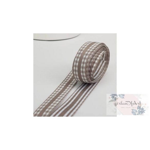 Kétoldalas textil szalag, vintage barna
