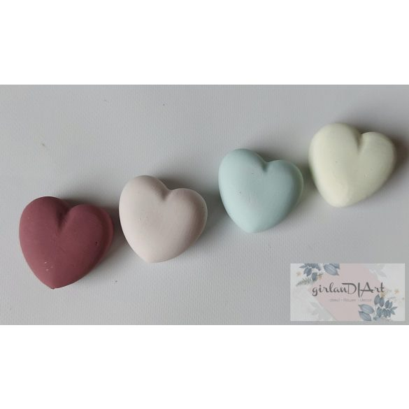 Gipsz szív - vegyes szín